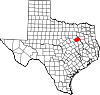 State map highlighting Navarro County