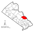 Map of Upper Makefield Township, Bucks County, Pennsylvania Highlighted.png