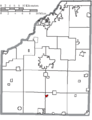 Map of Wood County Ohio Highlighting Cygnet Village.png