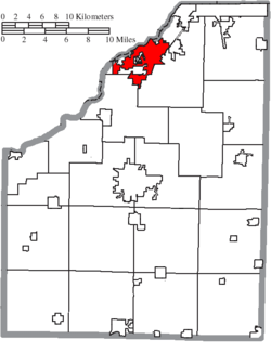 Location of Perrysburg in Wood County