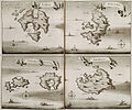 Maps of Leros, Levitha, Kinaros, Calymnos and Amorgos - Dapper Olfert - 1688.jpg