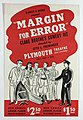 Margin for Error flyer from Plymouth Theatre front.jpg