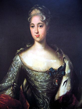 Alexander Danilovich Menshikov - Menshikov's eldest daughter, Princess Maria who was engaged to the future Peter II of Russia but followed her father into exile. Portrait by Johann Gottfried Tannauer