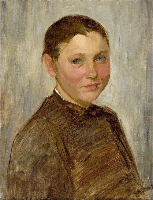 WIIK Maria (1853-1928) Flicka från Snappertuna