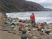 Marine debris washed ashore on Hawaii