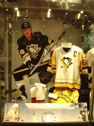 Mario Lemieux - Lemieux's exhibit in the Hockey Hall of Fame