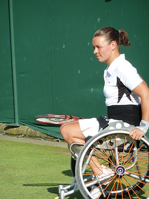 Marjolein Buis - Buis at Wimbledon during 2012