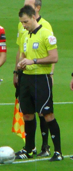Mark Clattenburg - Clattenburg refereeing the 2012 Football League Cup Final