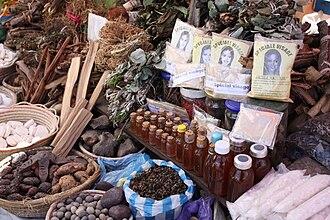 Traditional medicine - Traditional medicine in a market in Antananarivo, Madagascar