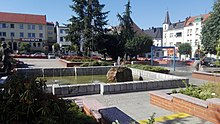 Market Square Fountain in Krapkowice, 2019.06.29 (03).jpg