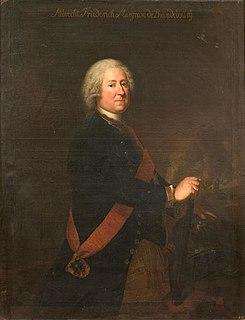 Margrave Albert Frederick of Brandenburg-Schwedt Lieutenant-General in Brandenburg-Prussia and Grand Master of the Order of St. John