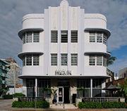 Marlin Hotel - Art Deco architecture on Collins Ave. - Miami Beach