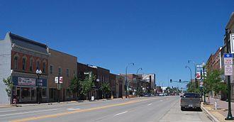 Marshall, Minnesota - Main Street in downtown Marshall
