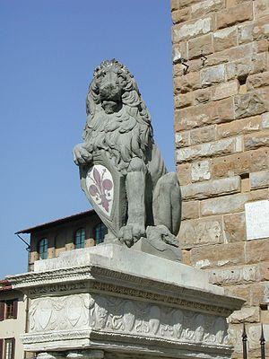 Marzocco - The Marzocco now in Piazza della Signoria, a replica of Donatello's