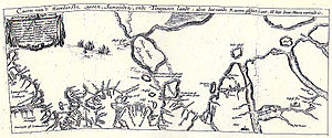 Tungusic peoples - 1612 map showing Tungusic land, by Isaac Massa