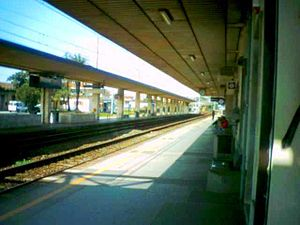 View of the station platforms.