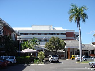 Pimlico, Queensland - Mater Misericordiae Hospital in Pimlico, view from the inner courtyard