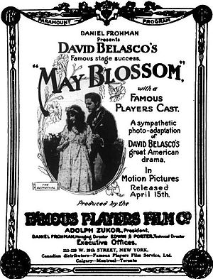 May Blossom (film) - Famous Players/ Daniel Frohman Advertisement.