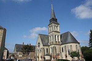 Roman-Gaul Baths of Entrammes - Image: Mayenne Entrammes église