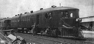 McKeen railmotor - McKeen railmotor in Wodonga, Australia, 1911.