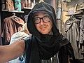 Me in Sith snood,Galaxy's Edge, Disneyland, Anaheim, California, USA (48076219271).jpg
