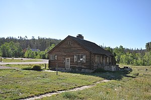 National Register of Historic Places listings in Carbon County, Wyoming - Image: Medicine Bow NF Brush Creek Visitor Center 1