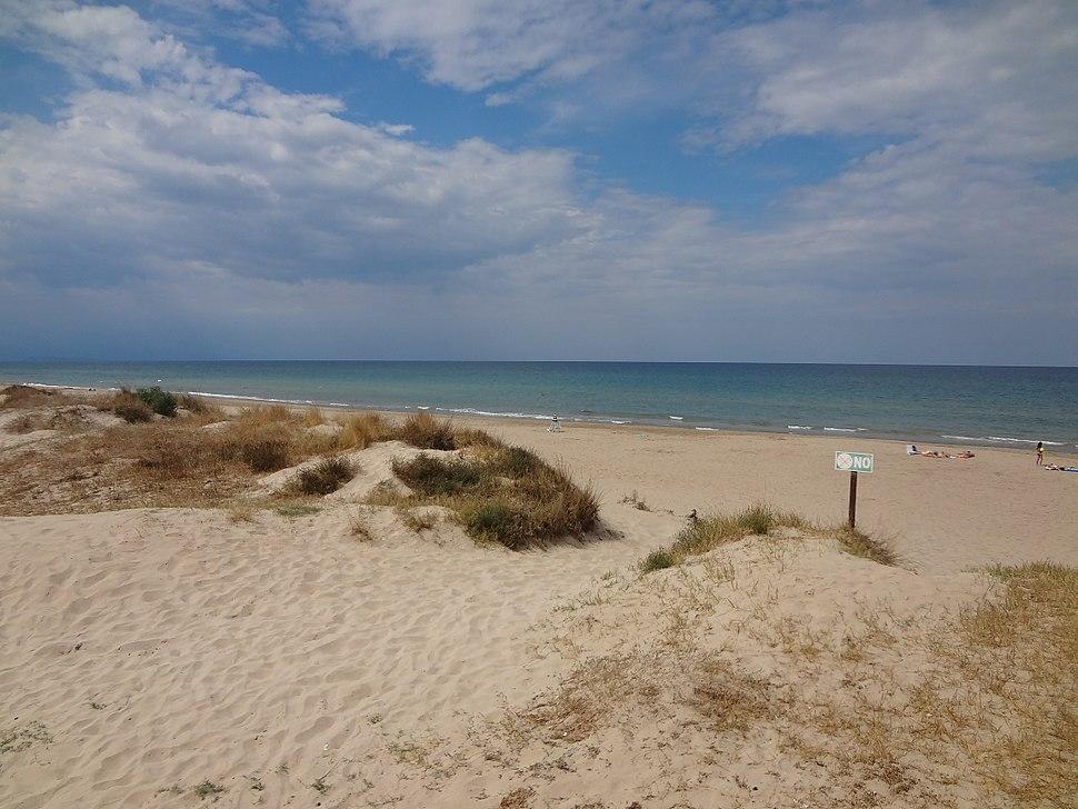 Mediterranean Sea in Oliva, Valencia Region of the Spain 01
