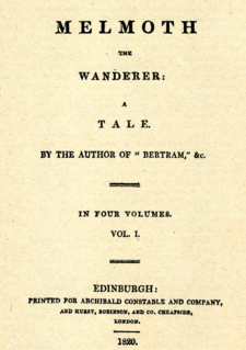<i>Melmoth the Wanderer</i> 1820 novel by Charles Maturin