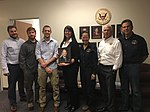 Member Bella Dinh-Zarr visited with NTSB investigators based out of the Anchorage office (36428952495).jpg