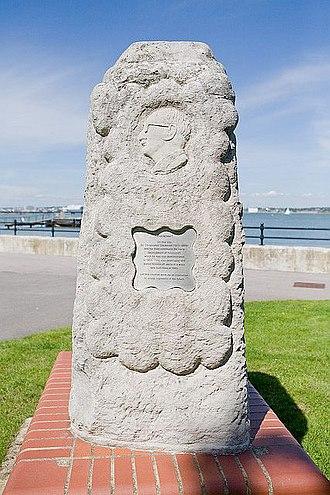 Christopher Cockerell - Memorial to Cockerell at Hythe, Hampshire