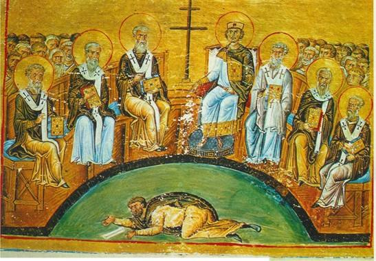 Menologion of Basil 024 — Second Council of Nicaea