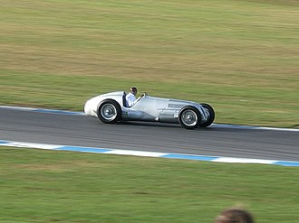 Tony Dron - Dron in a Mercedes-Benz W125 at Donington Park