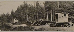 Mesherskoye peat narrow-gauge railway - Image: Mesherskoye peat enterprise (Bolon') 5