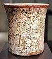 Messico, maya, vaso con scena ultramondana, periodo classico recente, VII-X sec., 01.JPG
