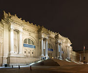 "The facade of the Metropolitan Museum is one of the main features of New York City's ""Museum Mile""."