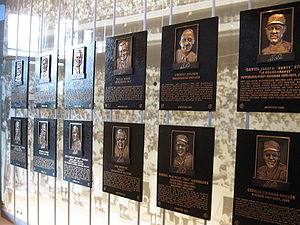 New York Mets Hall of Fame - Plaques of the New York Mets Hall of Fame inductees in Citi Field