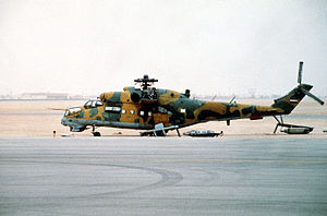 Iraqi Armed Forces - An Iraqi Mi-24 (NATO code:Hind-D), captured during the 1991 Persian Gulf War.
