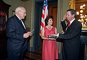 Michael Griffin was formally sworn in by Vice President Dick Cheney on June 28, 2005.