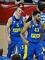 Michael Roll (basketball) 5 & Jonah Bolden 43 Maccabi Tel Aviv B.C. EuroLeague 20180320 (4).jpg