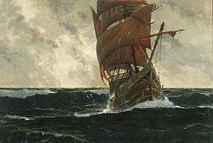 Michael Zeno Diemer - The Santa Maria at sea.jpg