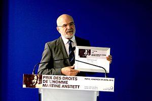Michel Forst lors de la remise du 1er prix Martine Anstett.jpg