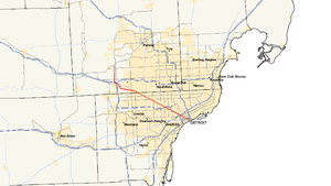 M-5 (Michigan highway) - Image: Michigan 5 map