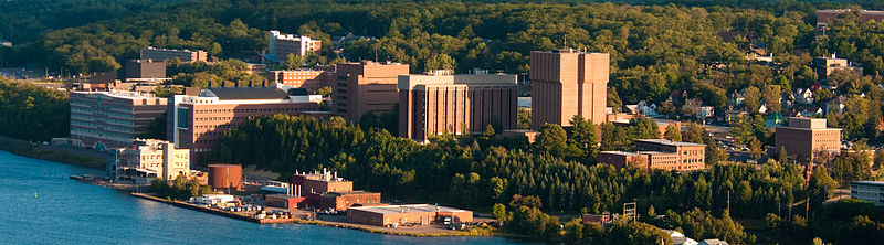 Michigan Tech campus as viewed from Mont Ripley