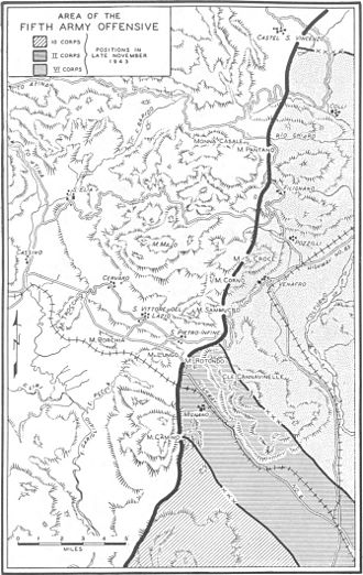 Bernhardt Line - Area of the Fifth Army offensive in the autumn of 1943.