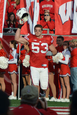 Mike Taylor (linebacker, born 1989) - Taylor with the Wisconsin Badgers