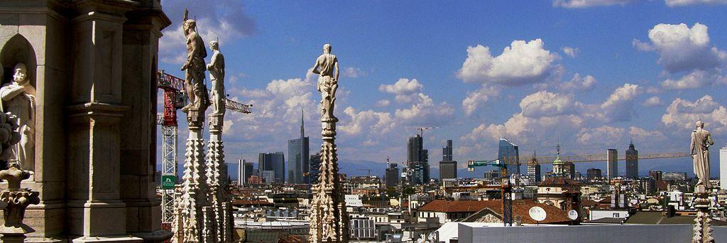 File milano skyline jpg wikimedia commons - Ristoranti porta nuova milano ...
