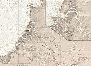 Rio Grande de Mindanao - 1917 map of the delta of the Mindanao River