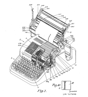 Lin Yutang - Lin's Mingkwai Chinese typewriter played a pivotal role in the Cold War machine translation research.