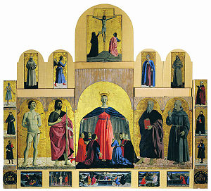 Polyptych of the Misericordia (Piero della Francesca) - The larger setting