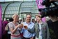 Mlinar, Strolz and Meinl-Reisinger at the NEOS FEST Vienna 2013-05.jpg